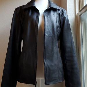 Wilsons Leather Black Genuine Leather Jacket Large